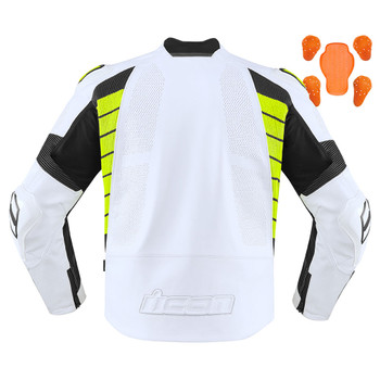 Icon Hypersport2 Prime Jacket - White/Hi-Viz