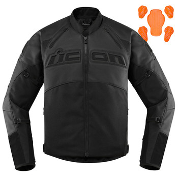 Icon Men's Contra 2 Leather Jacket - Stealth Black