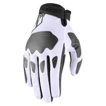Icon Hooligan Gloves - White