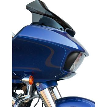 "Klock Werks 14"" Sport Flare Windshield for 2015-2020 Harley Road Glide - Dark Smoke"