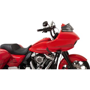 "Klock Werks 6"" Sport Flare Windshield for 2015-2020 Harley Road Glide - Black"