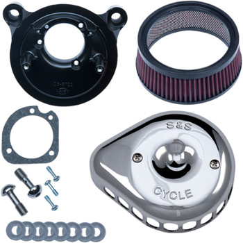 S&S Mini Teardrop Stealth Air Cleaner Kit for 2001-2017 Harley Big Twin - Chrome