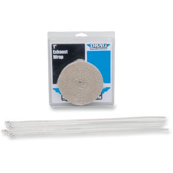 "Drag Specialties Exhaust Heat Wrap Kit - 1"" Tan"