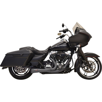 Bassani Road Rage 2-1 Short Exhaust System for 1995-2016 Harley Touring - Black