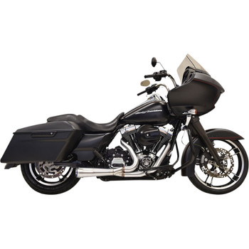 Bassani Road Rage 2-1 Short Exhaust System for 1995-2016 Harley Touring - Stainless