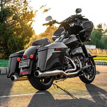 Bassani True-Duals Stainless Exhaust for 2017-2020 Harley Touring