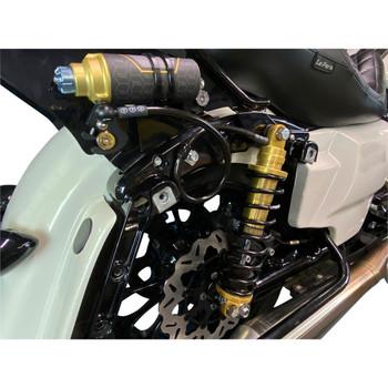 Legend Revo-Arc Remote Reservoir Coil Shocks for 2014-2020 Harley Touring - Gold