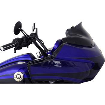 "Klock Werks 8"" Flare Windshield for 1998-2013 Harley Road Glide - Dark Smoke"