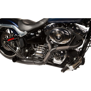 Trask NB Performance 2-Into-1 Exhaust for 2000-2017 Harley Softail - Black
