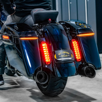 Ciro Bag Blade Lights w/ Controller for 2014-2019 Harley Touring - Amber