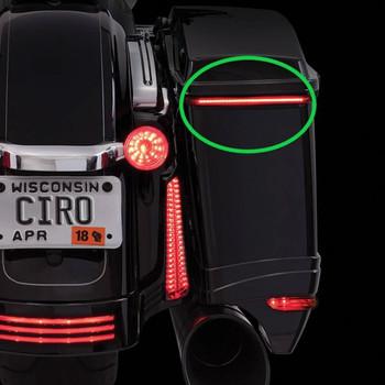 Ciro Bag Blade Lights for 2014-2019 Harley Touring - Red