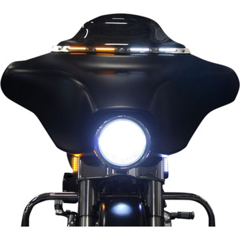 Custom Dynamics Windshield Trim with LED Turn Signals for 2014-2020 Harley Touring - Chrome