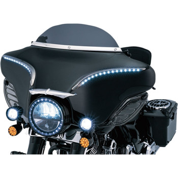 Kuryakyn Windshield Trim for 1996-2013 Harley Touring – Chrome