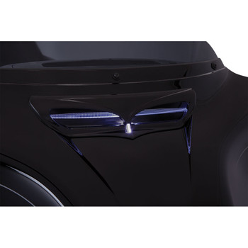 Ciro LED Fairing Vent Trim for 2014-2020 Harley Touring - Black