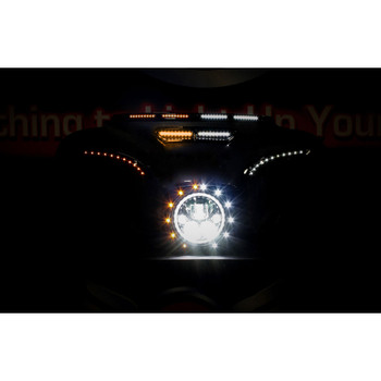 Custom Dynamics LED Lights for Fairing Vent Trim on 2014-2020 Harley Touring - White/Amber