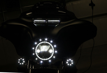 Custom Dynamics LED Lights for Fairing Vent Trim on 2014-2020 Harley Touring - White DRL