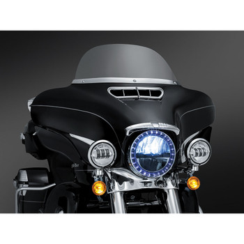 Kuryakyn Fairing Vent Accent for 2014-2020 Harley Touring - Chrome