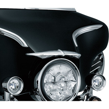 Kuryakyn Chrome Bat Brow for 1996-2013 Harley Touring