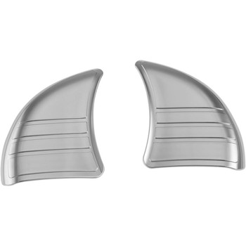 Kuryakyn Tri-Line Inner Fairing Cover Plates for 2014-2020 Harley Touring - Chrome