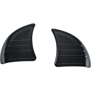 Kuryakyn Tri-Line Inner Fairing Cover Plates for 2014-2020 Harley Touring - Black