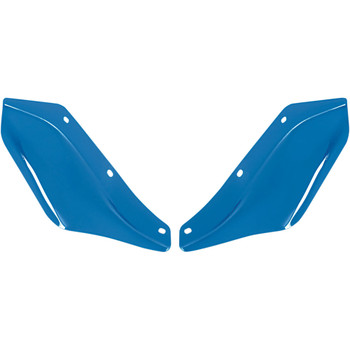 Memphis Shades Side Wind Deflectors for 1996-2013 Harley Touring - Blue