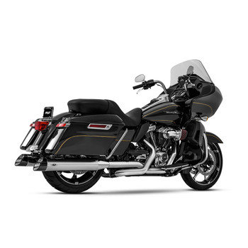 Magnaflow Hitman Slip-On Mufflers for 2017-2020 Harley Touring - Chrome/Black Tip
