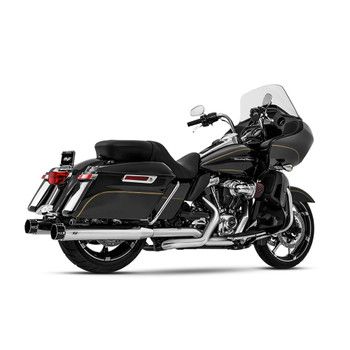 Magnaflow Sniper Slip-On Mufflers for 2017-2020 Harley Touring - Chrome/Black Tip