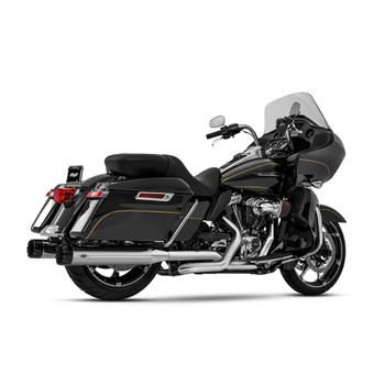 Magnaflow Knockout Slip-On Mufflers for 2017-2020 Harley Touring - Chrome/Black Tip