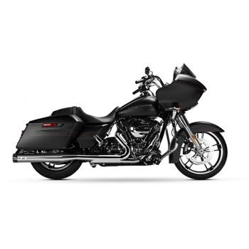 Magnaflow Knockout Slip-On Mufflers for 1995-2016 Harley Touring - Chrome/Black Tip