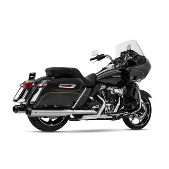 Magnaflow Riot Slip-On Mufflers for 2017-2020 Harley Touring - Chrome/Black Tip