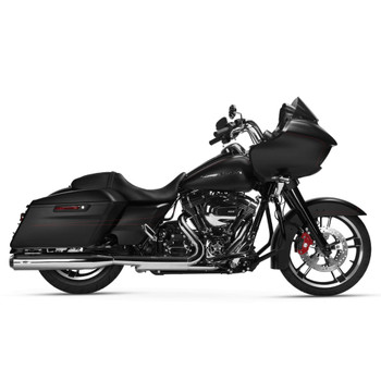 Magnaflow Riot Slip-On Mufflers for 1995-2016 Harley Touring - Chrome/Black Tip