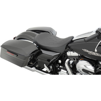 Drag_Specialties_Low-Profile_Solo_Seat_for_2008-2020_Harley_Touring_Flame_Stitch