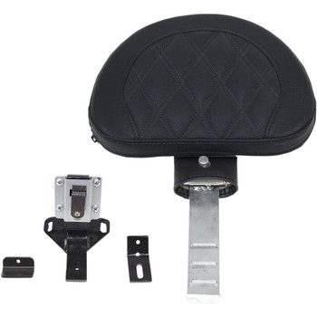 Saddlemen Matching Driver's Backrest Assembly for Road Sofa Seat for 1997-2007 Harley Touring - Lattice Stitch