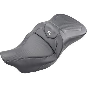 Saddlemen Road Sofa Seat for 2009-2020 Harley Tri-Glide - Carbon Fiber