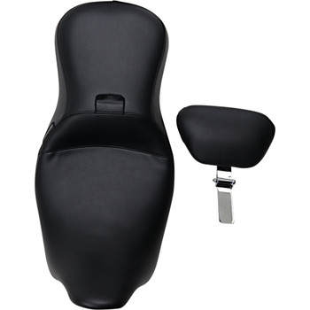 LePera Outcast 2-Up Seat w/ Backrest for 2008-2020 Harley Touring - Smooth