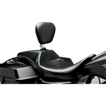 LePera Outcast Daddy Long Legs Seat w/ Backrest for 2008-2020 Harley Touring - Smooth