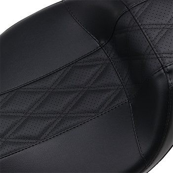 LePera Outcast Daddy Long Legs Seat for 2008-2020 Harley Touring - Black Double Diamond Stitch