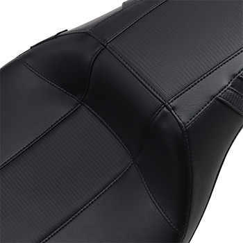 LePera Outcast Daddy Long Legs Seat for 2008-2020 Harley Touring - Black/Carbon Weave