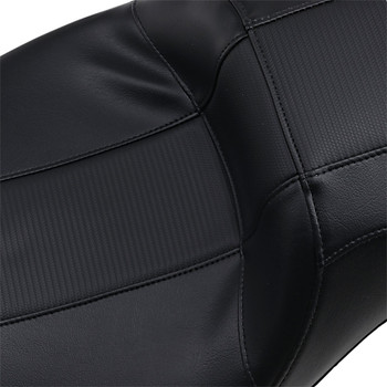 LePera Outcast Daddy Long Legs 2-Up Seat for 2008-2020 Harley Touring - Black/Carbon Weave