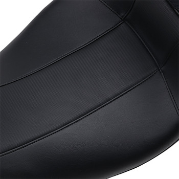 LePera Outcast GT 2-Up Seat w/ Driver Backrest for 2008-2020 Harley Touring - Black/Carbon Weave