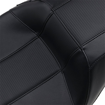 LePera Outcast GT 2-Up Seat for 2008-2020 Harley Touring - Black/Carbon Weave