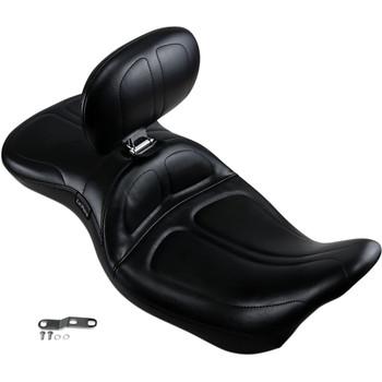 LePera Maverick Seat w/ Backrest for 2008-2020 Harley Touring - Stitch