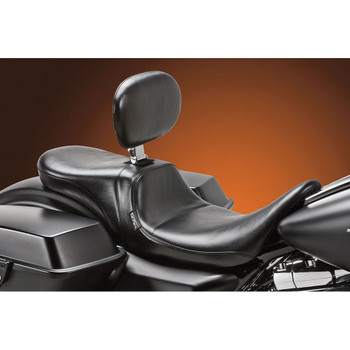 LePera Daytona Two-Up Seat w/ Backrest for 2008-2020 Harley Touring - Smooth