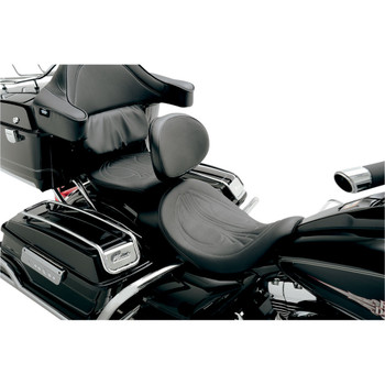 Danny Gray Airhawk Bigseat Solo Seat Backrest Slot for 2008-2020 Harley Touring - Drag Stitch