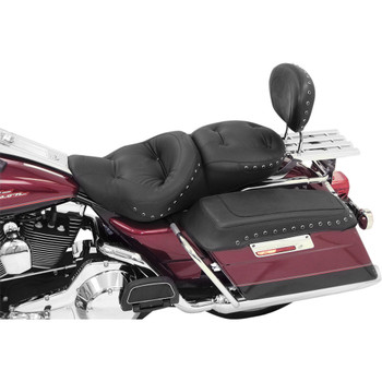Mustang One-Piece Regal Touring Seat for 1997-2007 Harley FLHR FLHX - Black Studs