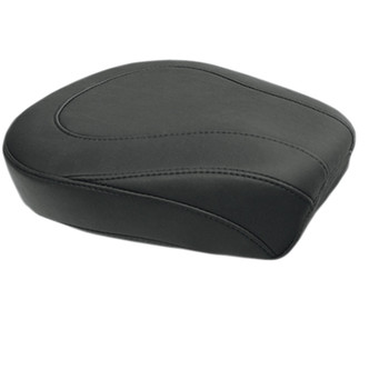 Mustang Wide Tripper Black Rear Seat for 2008-2020 Harley Touring - Smooth