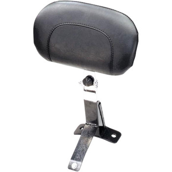 Mustang Driver Backrest Kit for 2009-2020 Harley Touring - Black Studs