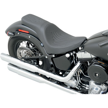 Drag Specialties Predator 2-Up Seat for 2011-2017 Harley FXS/FLS - Flame Stitch