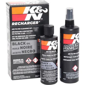 K&N Recharger Filter Care Service Kit - Black Oil