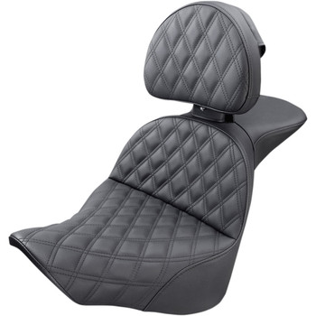 Saddlemen Explorer LS Touring Seat w/ Backrest for 2018-2020 Harley Softail - Fat Boy